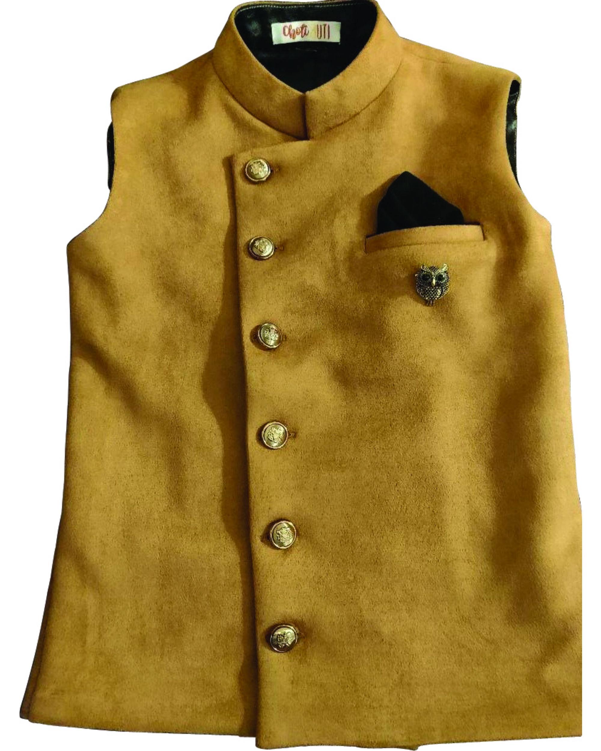 Bandh gala brown jacket