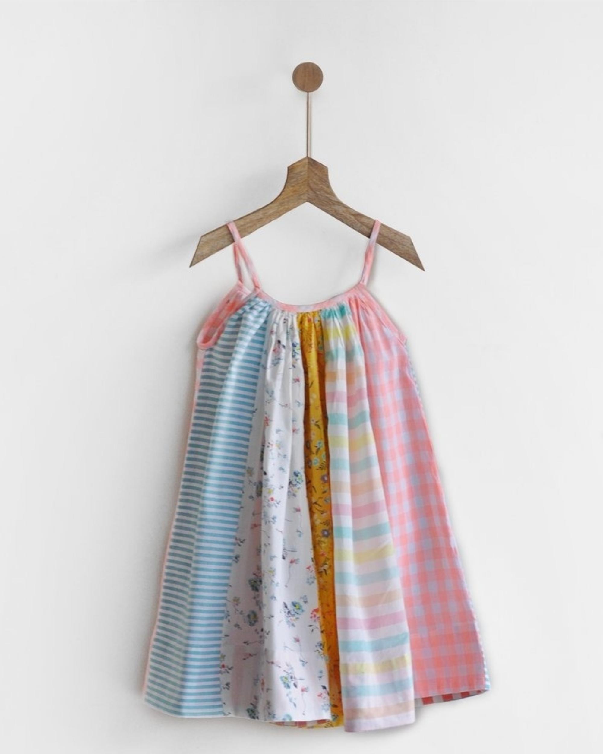 Paneled circle dress