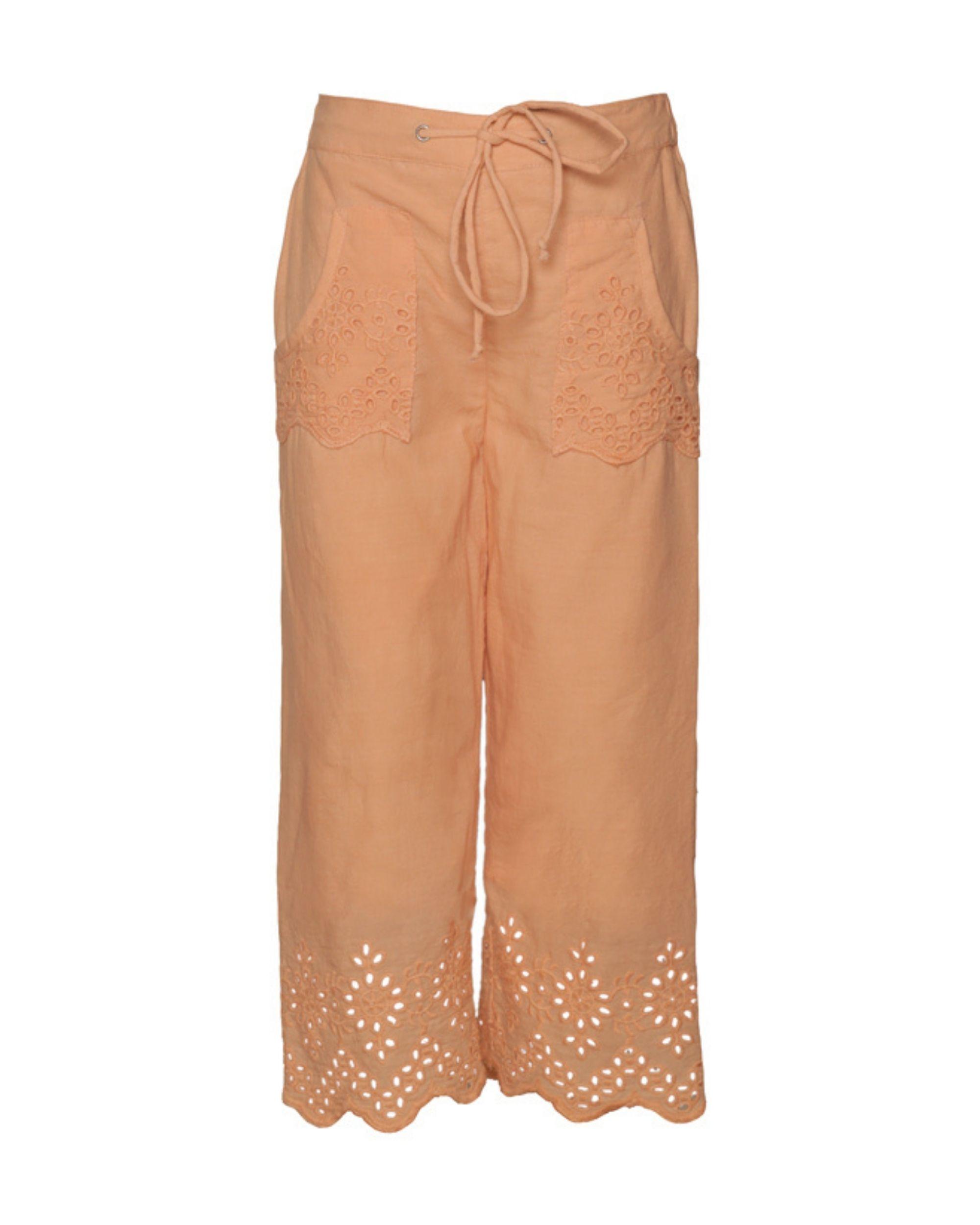 Peach cutwork boho pants