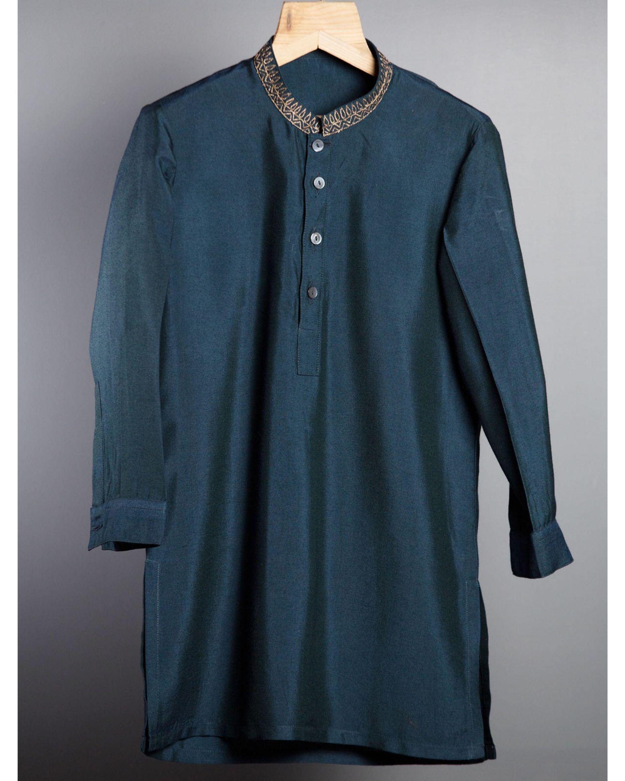 Indigo blue kurta