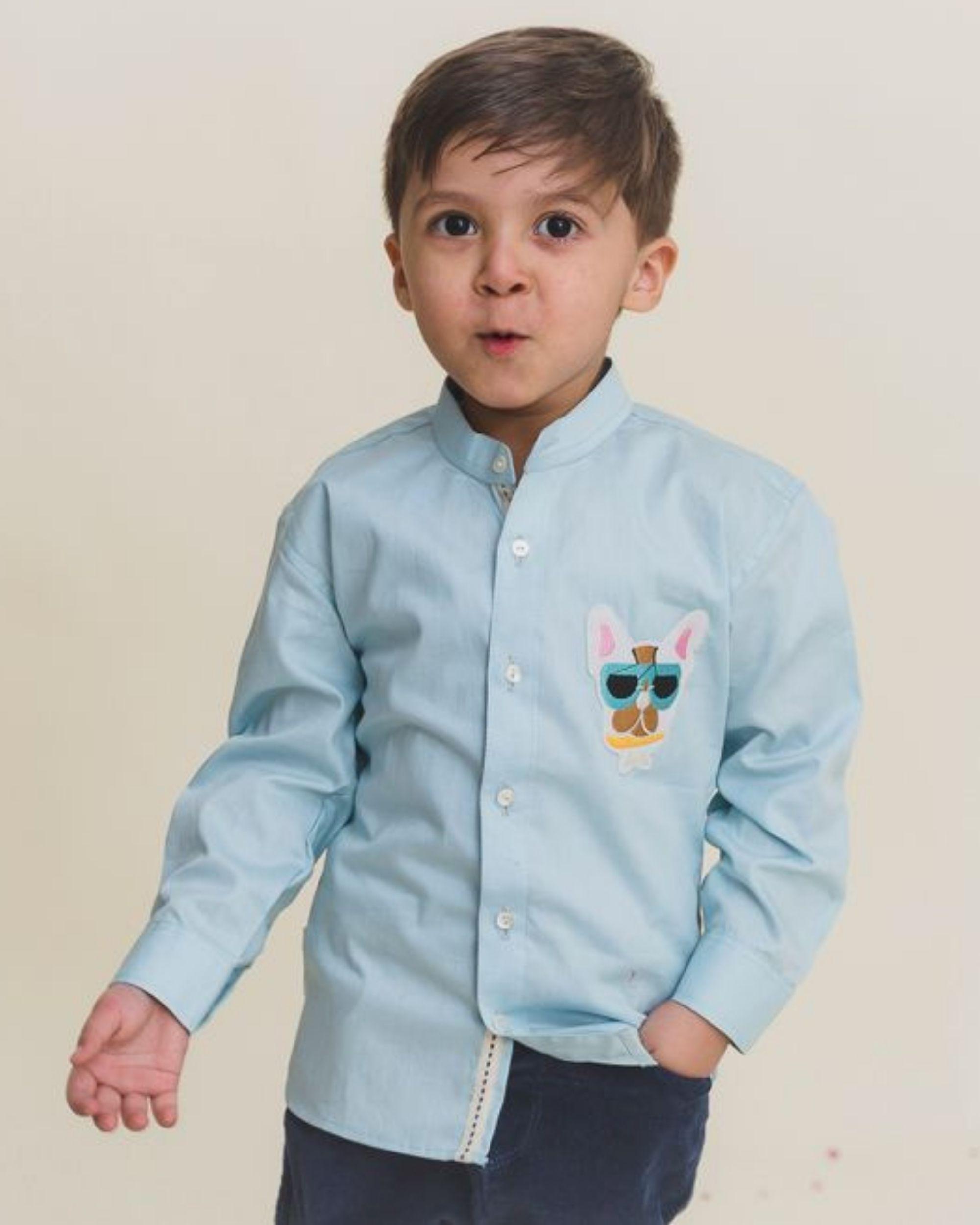 Blue cartoon shirt