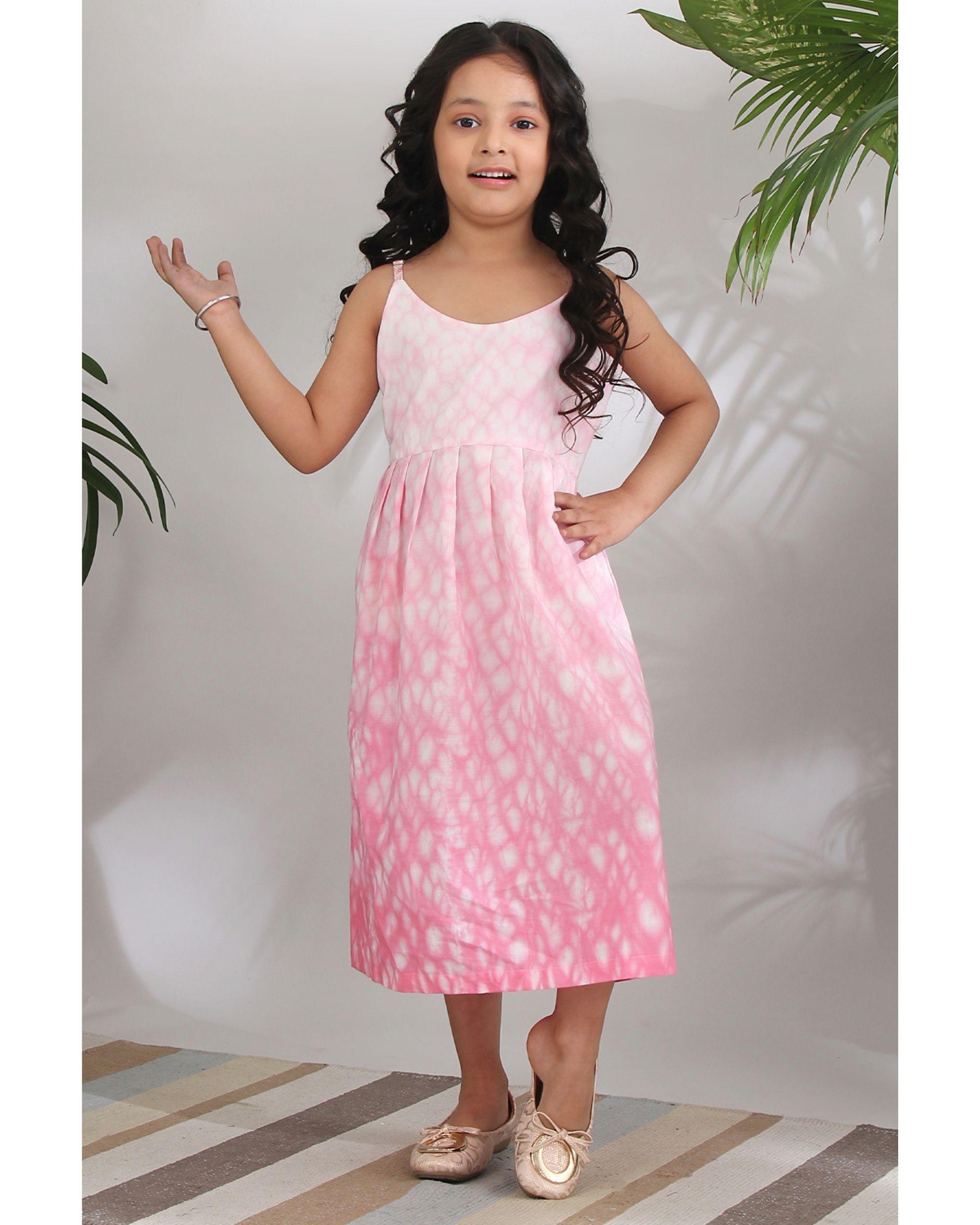 Pink shibori dress