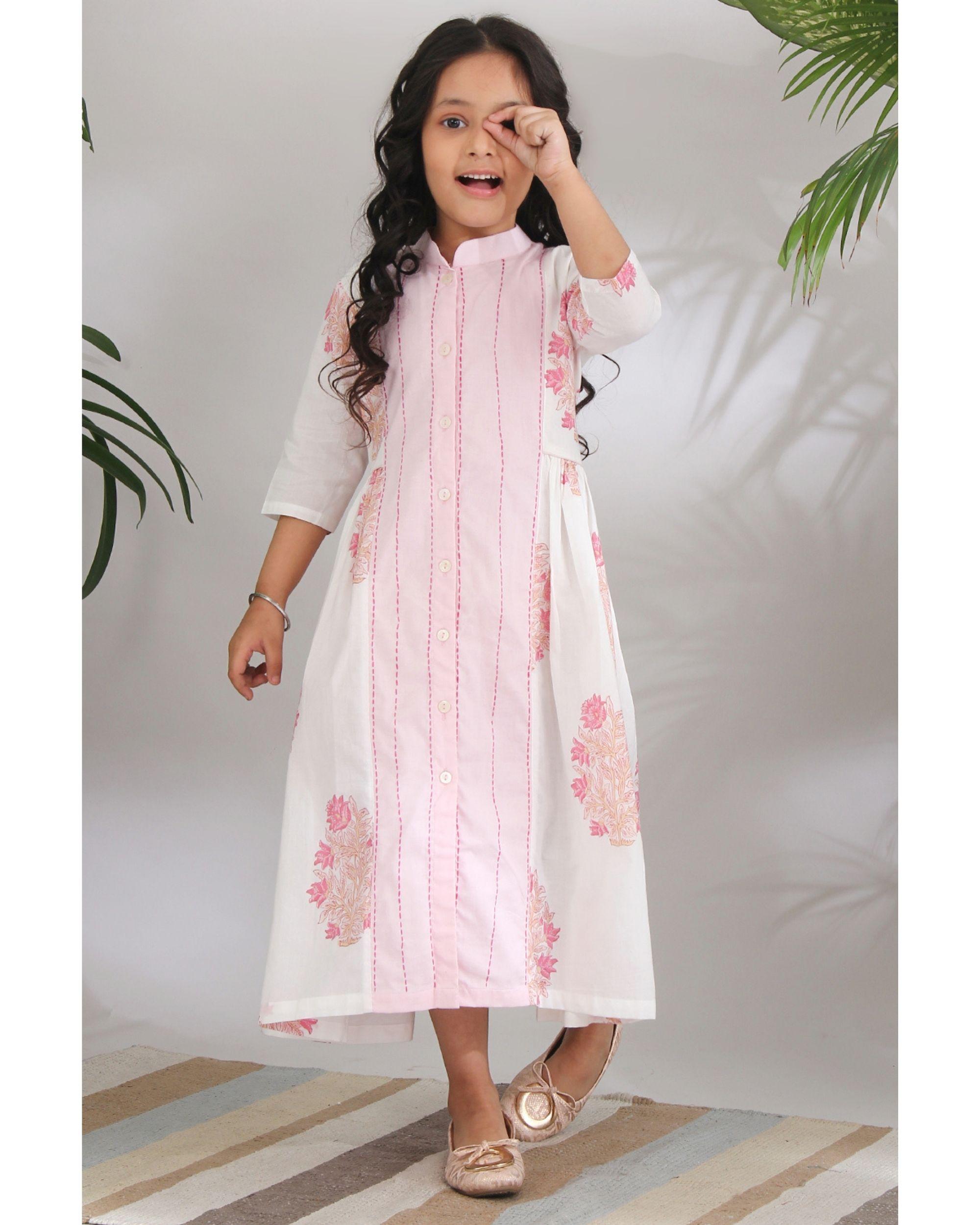 Panelled kantha dress