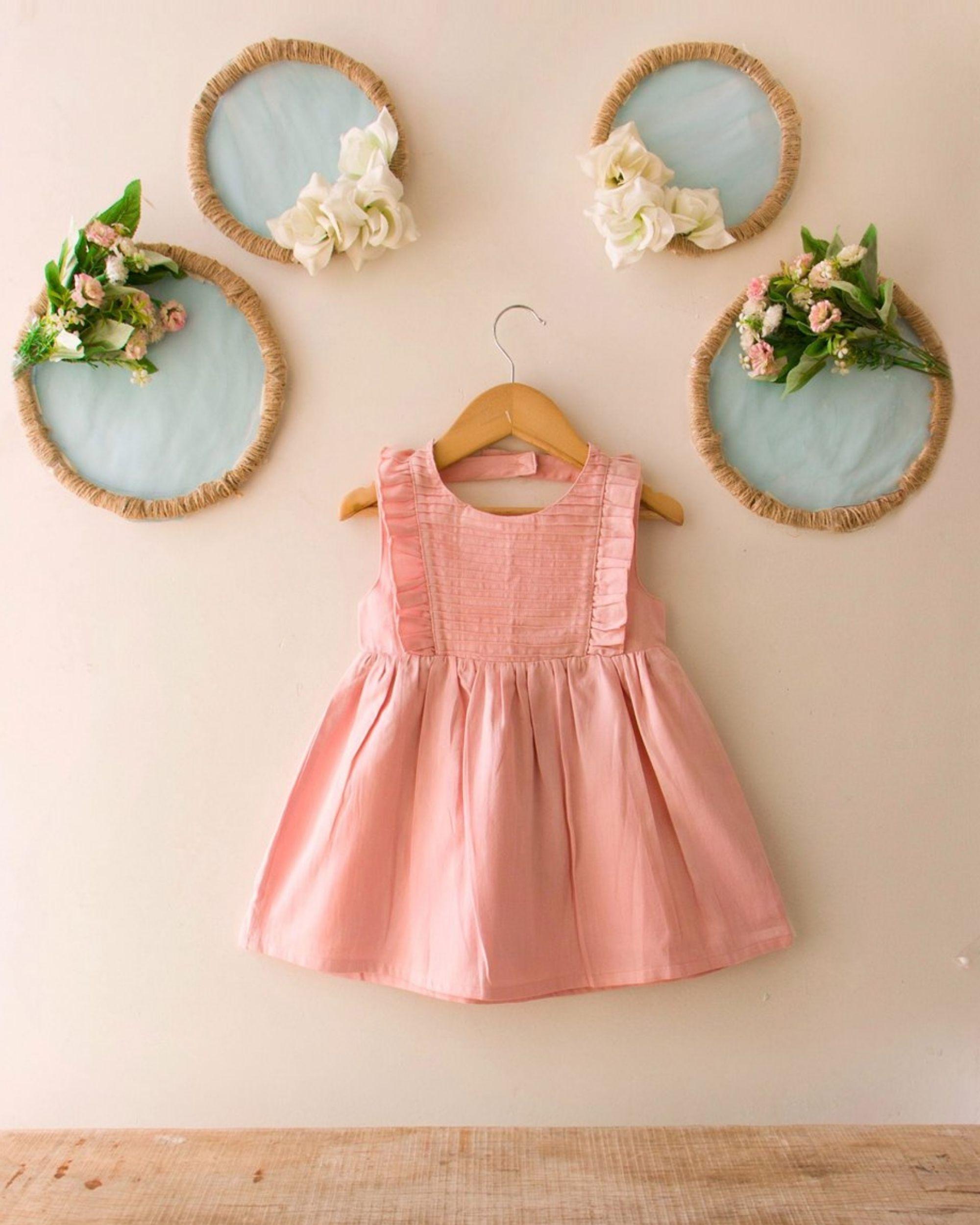 Pink pin-tuck dress