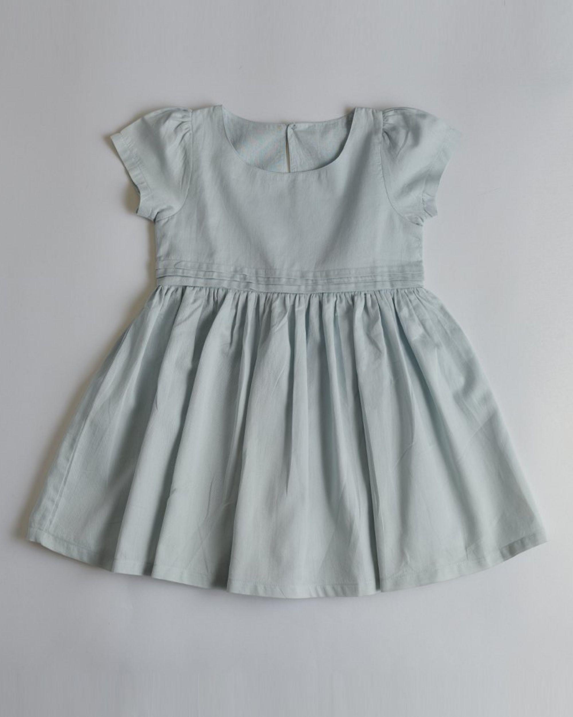 Powder blue panelled dress