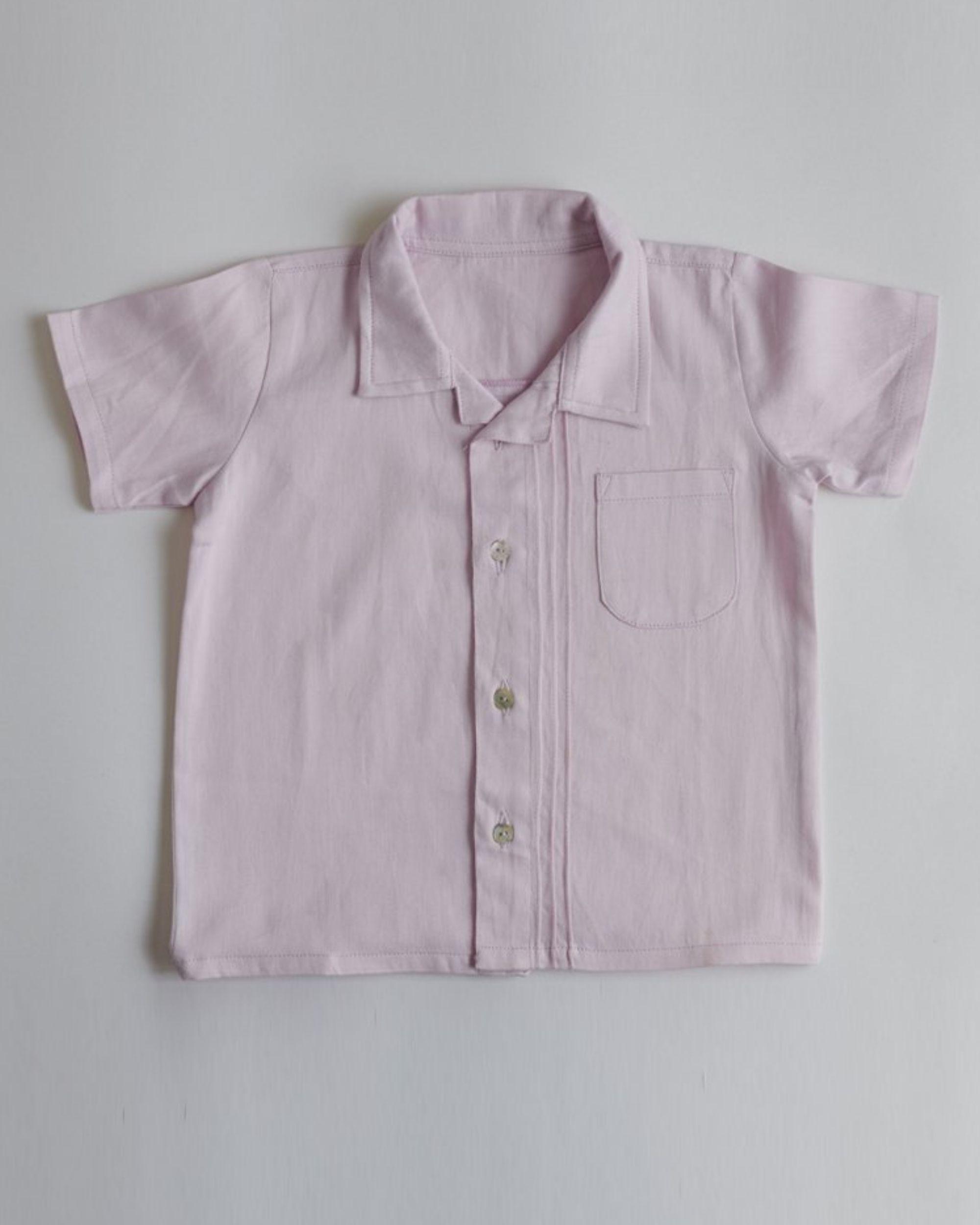 Lavender organic cotton shirt