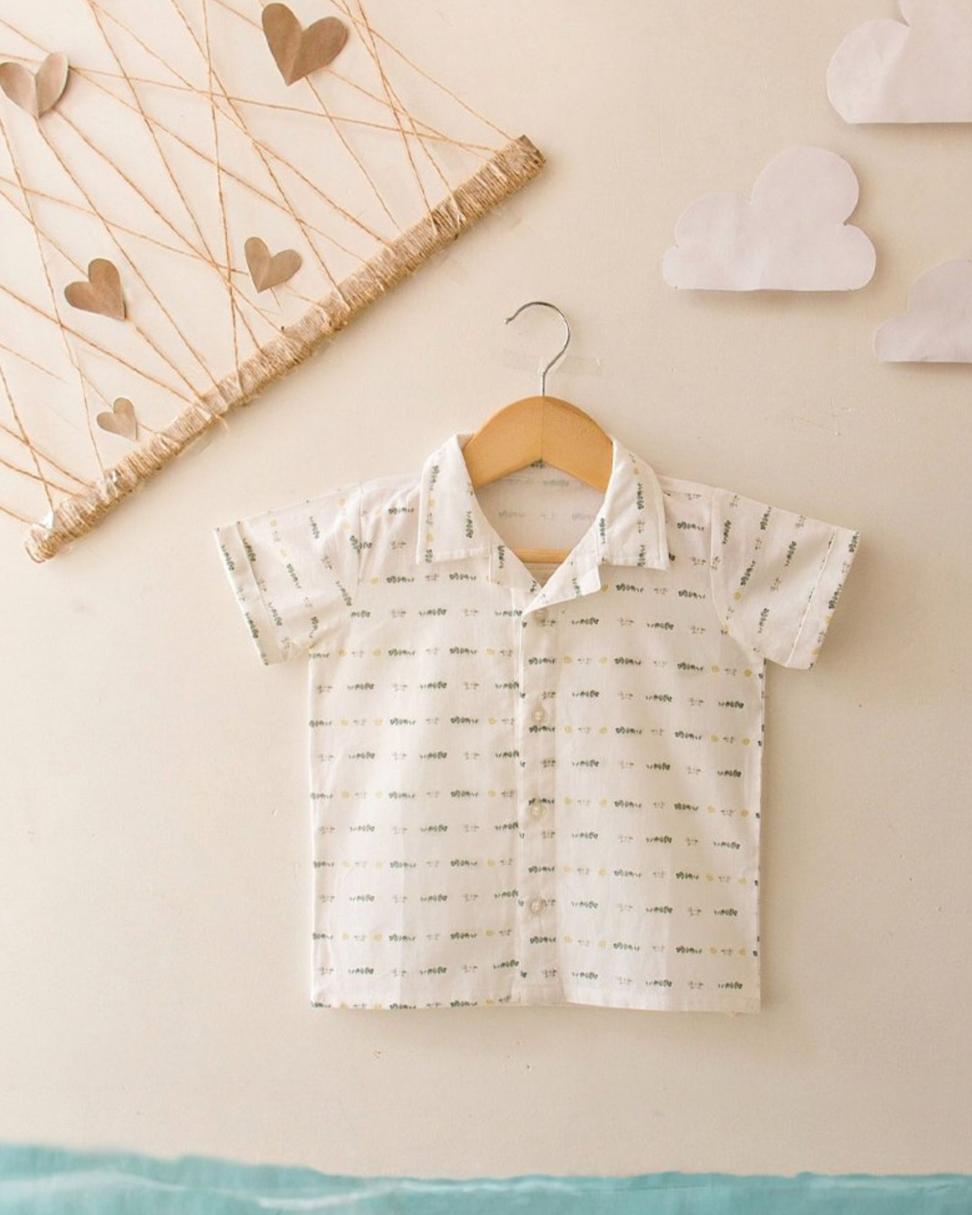 Off white limes and eucalyptus printed shirt