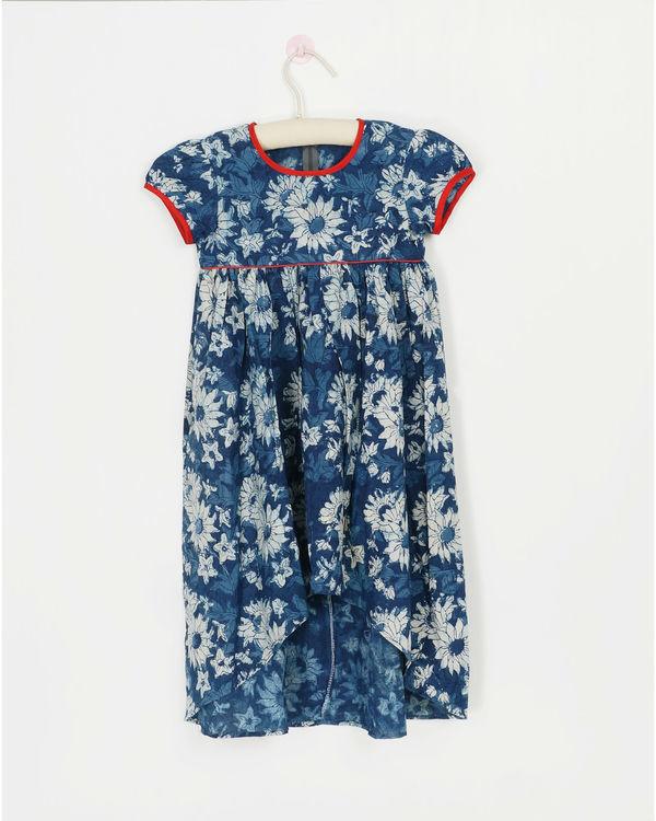Blue dahlia dress
