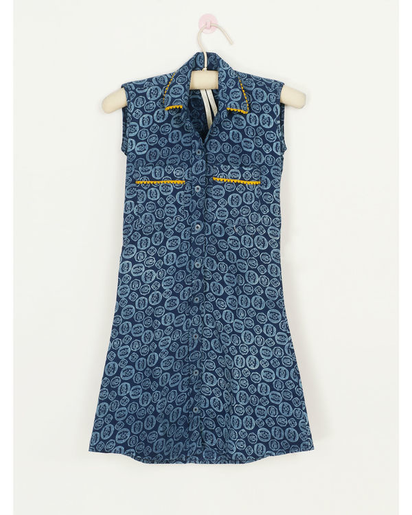 Blue coin dress