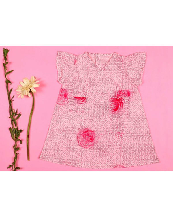 Pink rose pocket dress