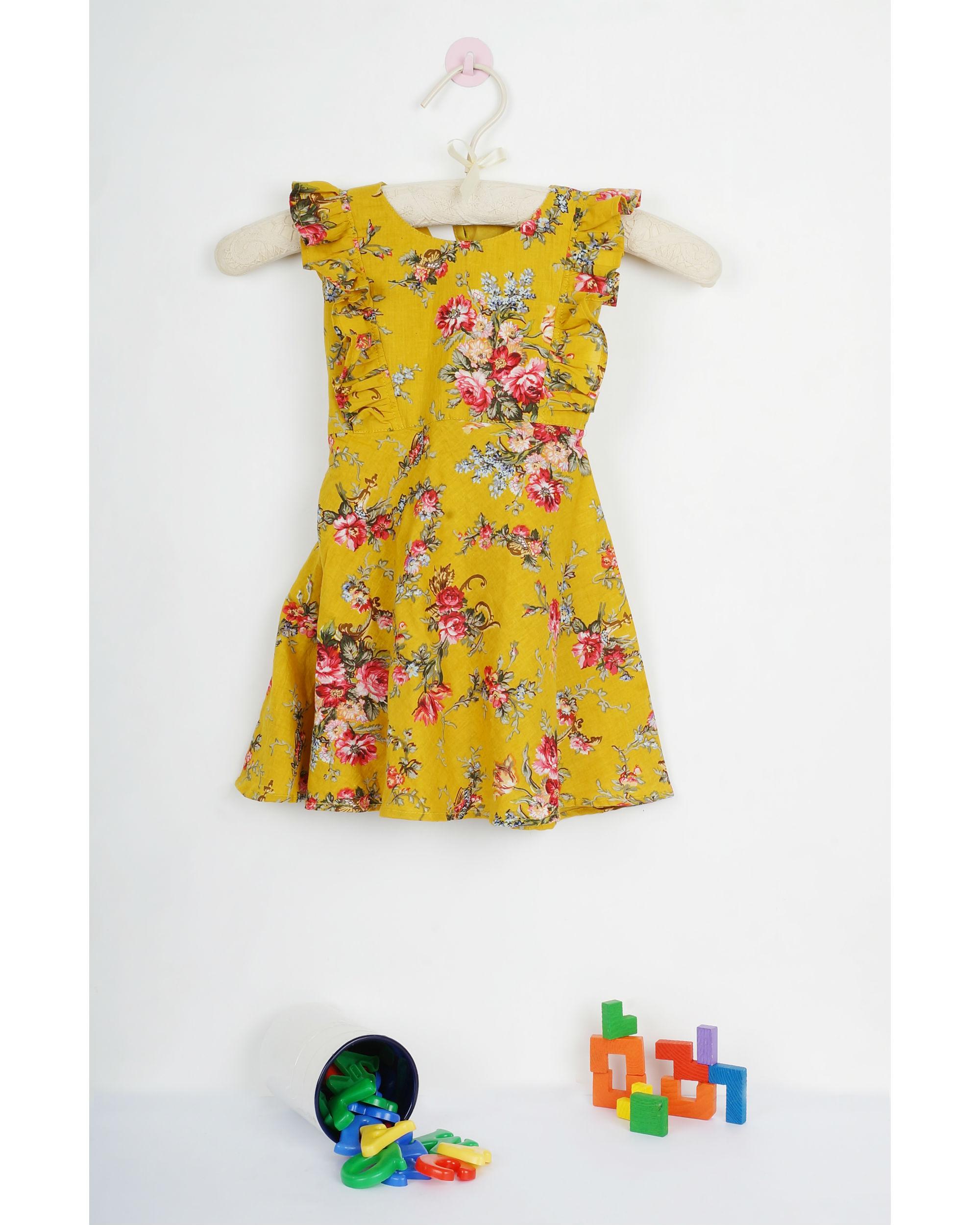 Marigold waist belt dress