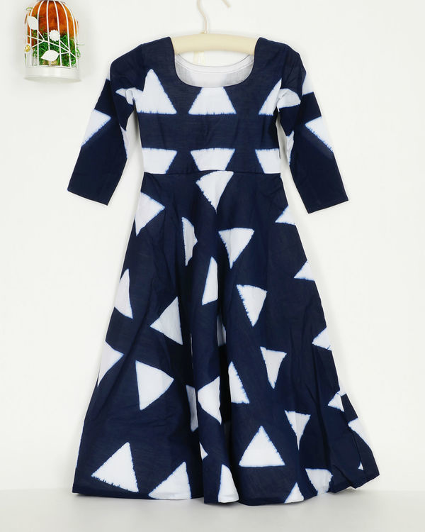 Navy triangle dress