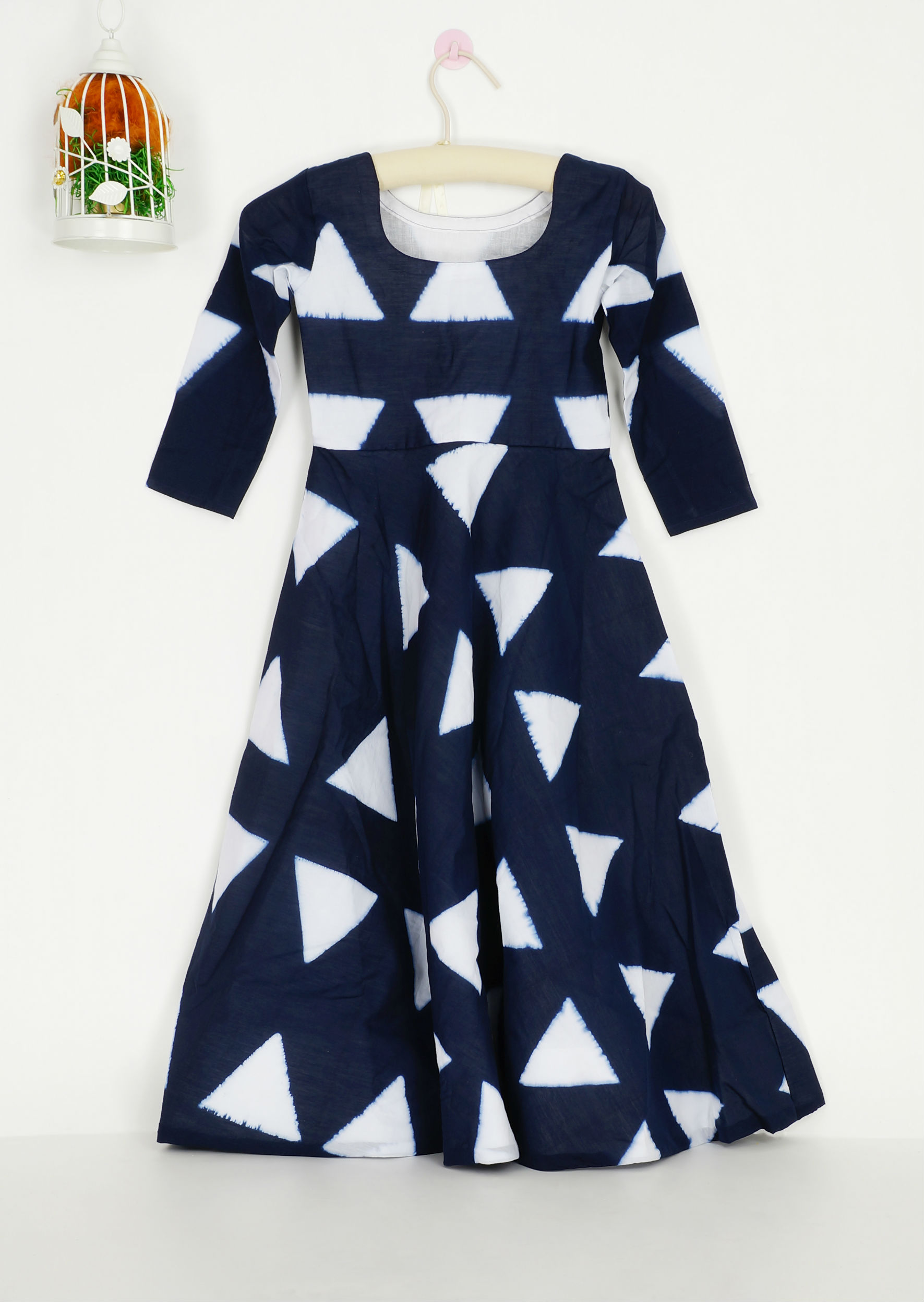 Navy triangle dress