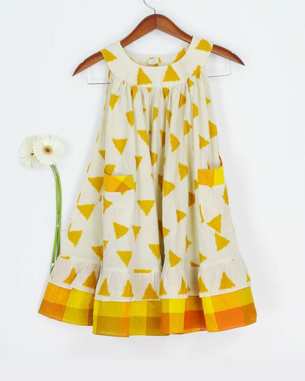 Mustard round collar dress