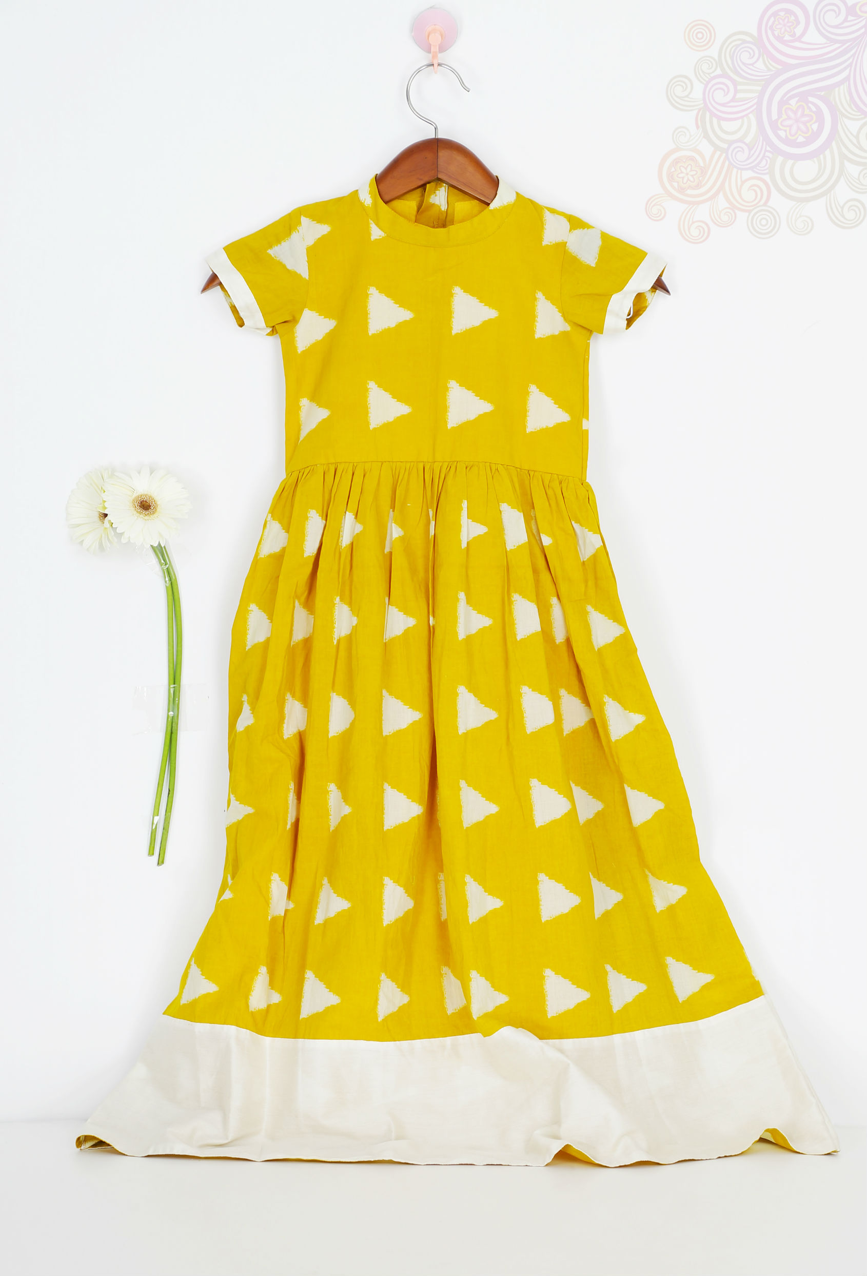 Mini yellow block dress