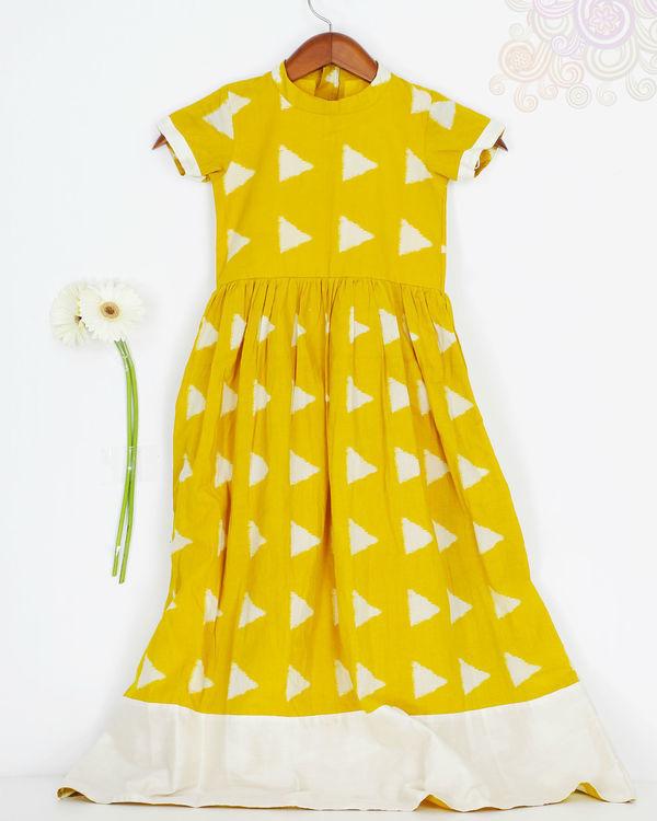 Mini yellow block dress