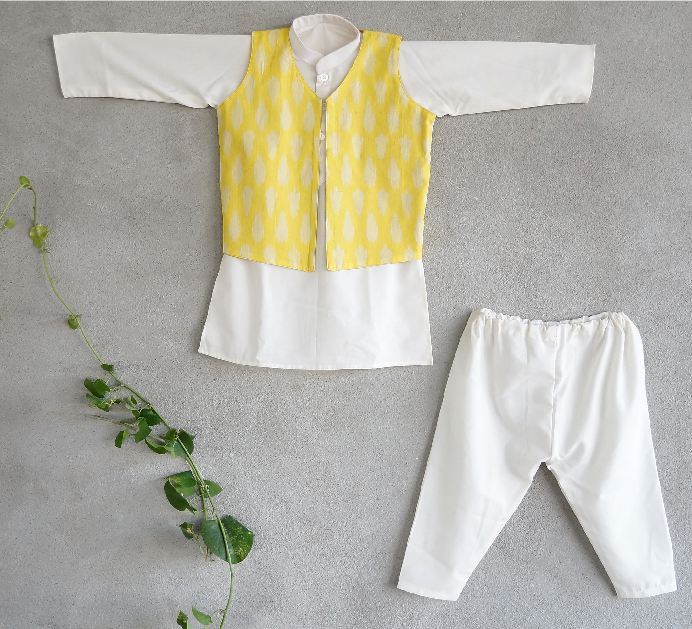 Sunshine nehru jacket set