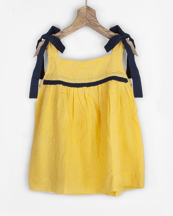 Yellow cami top with shoulder bow details