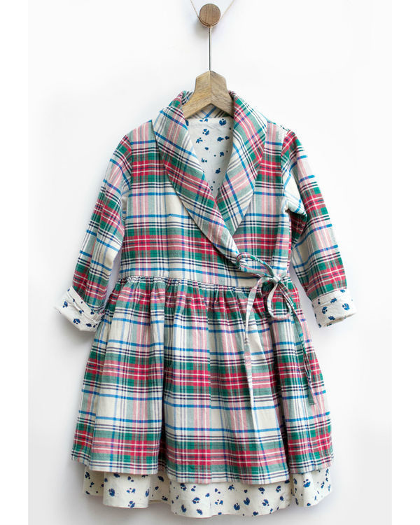 Christmas checks dress jacket