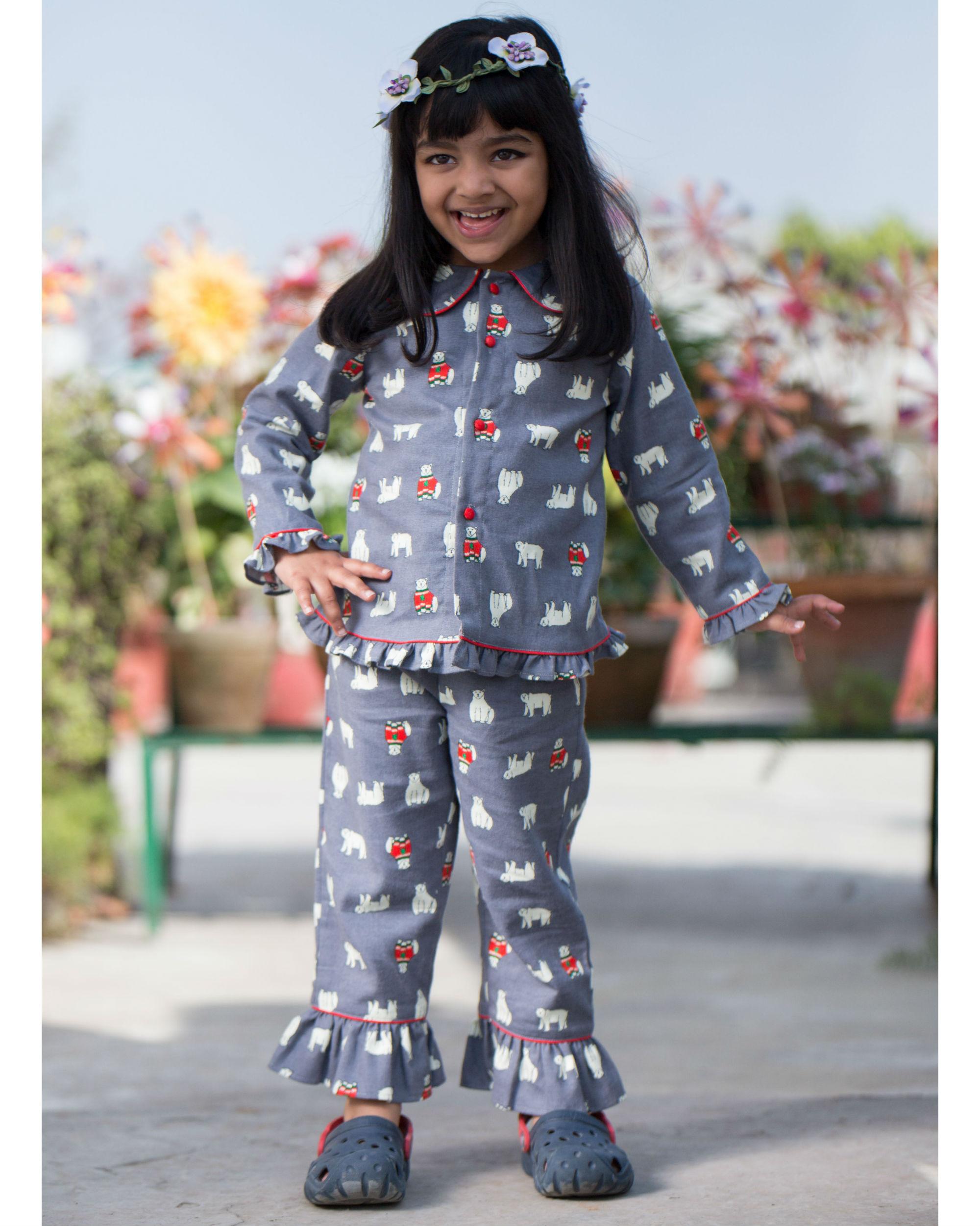 Printed frill night suit by Choti Buti  d380268a4
