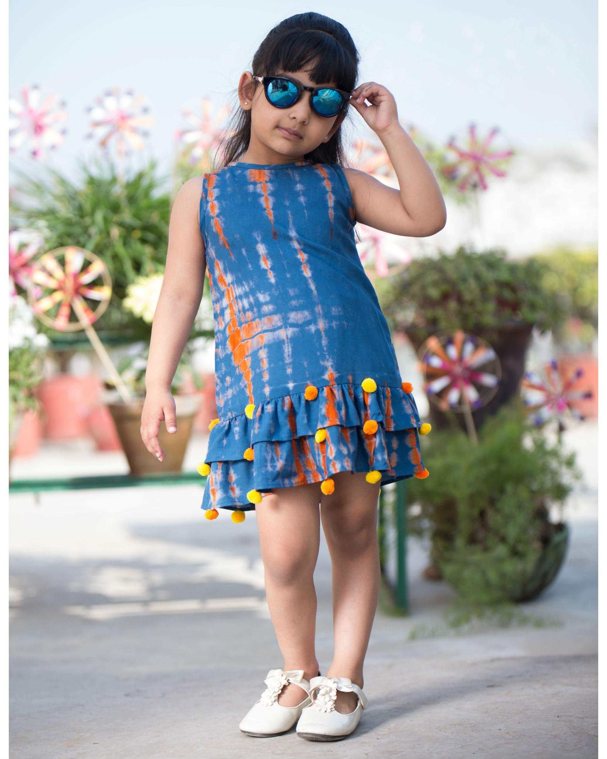 Tie and dye rayon dress