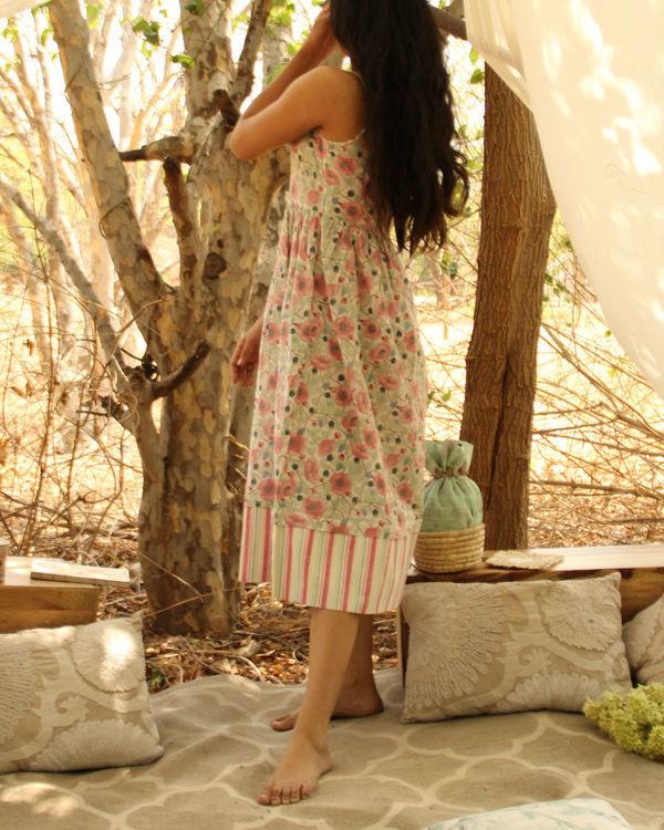 Mint Green Floral Striped Dress 2