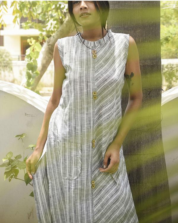 Grey striped kurta 1