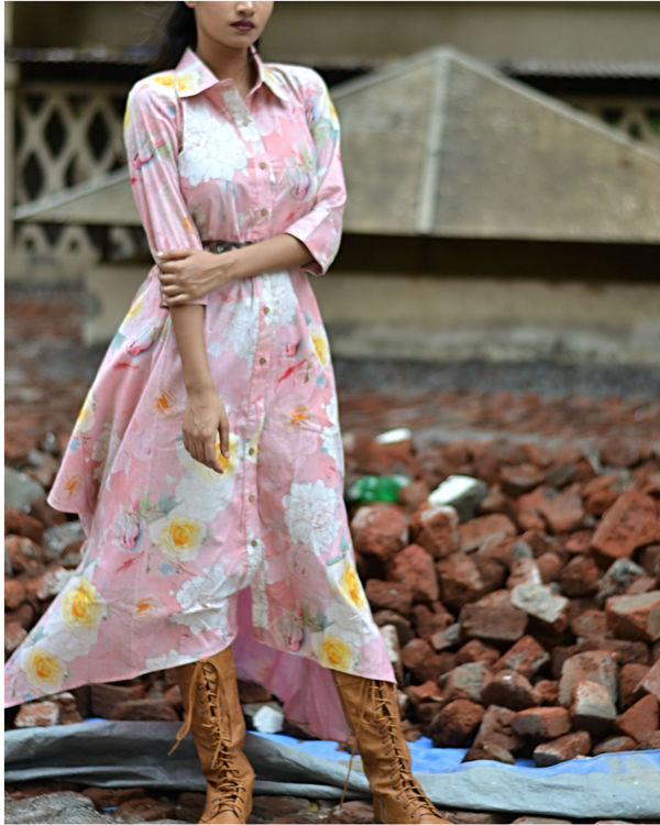 Floral Button Down Dress 1
