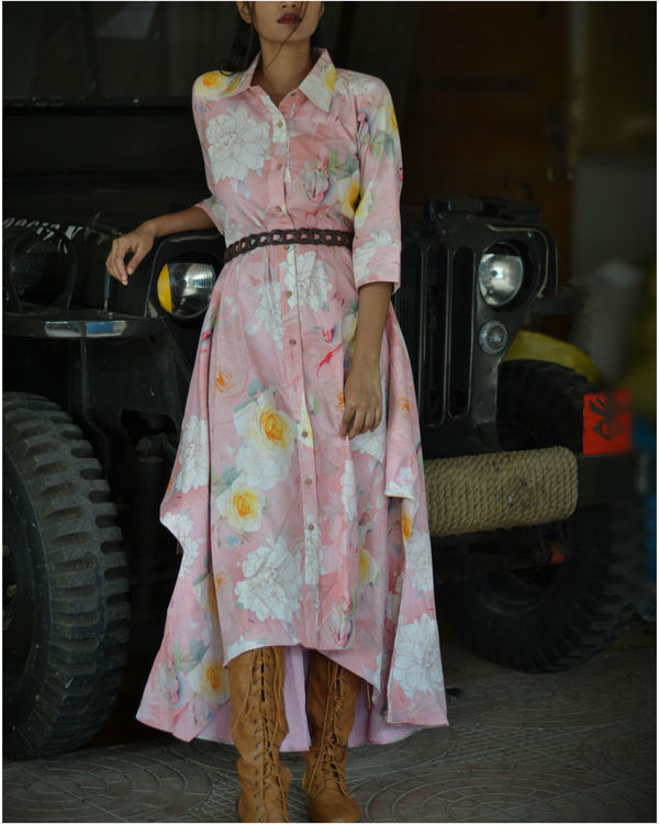 Floral Button Down Dress 2