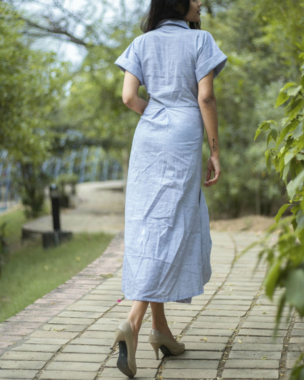 Double cowl dress 1