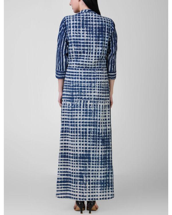 Indigo patch dress 1