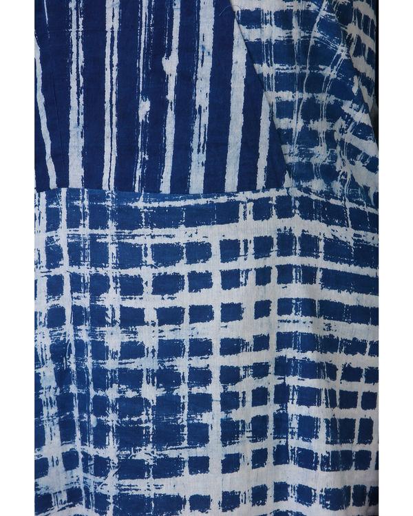 Indigo patch dress 2
