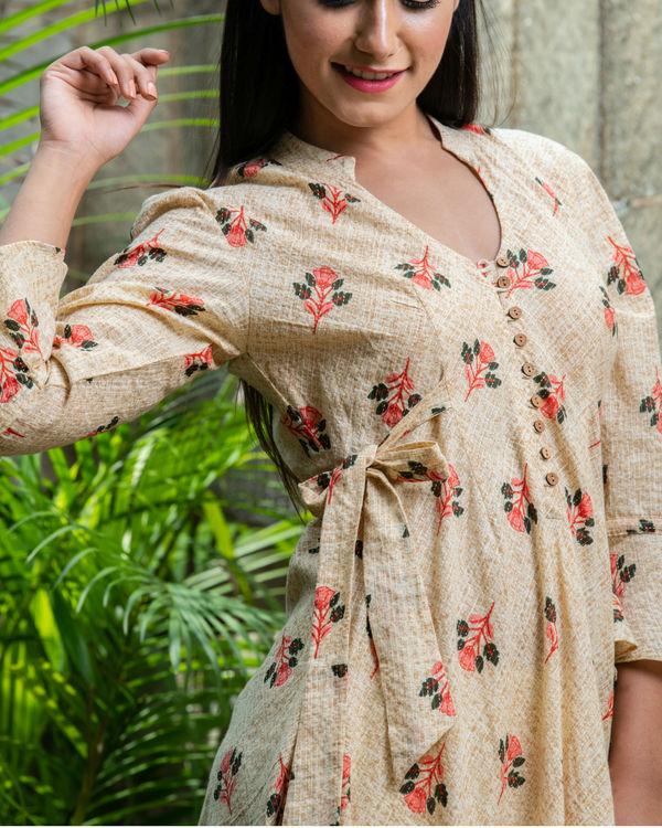 Textured swing dress 1