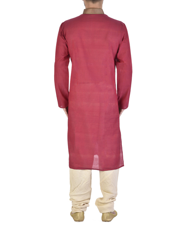 Rasperry Cotton kurta 2