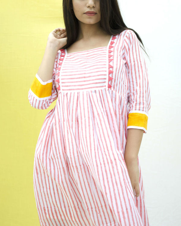 Cotton candy bordered dress 1