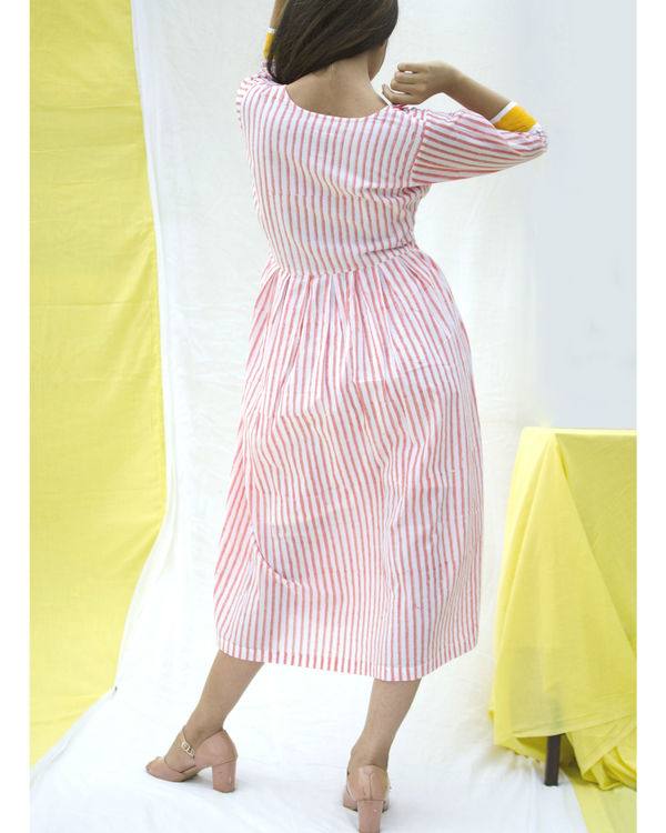 Cotton candy bordered dress 2