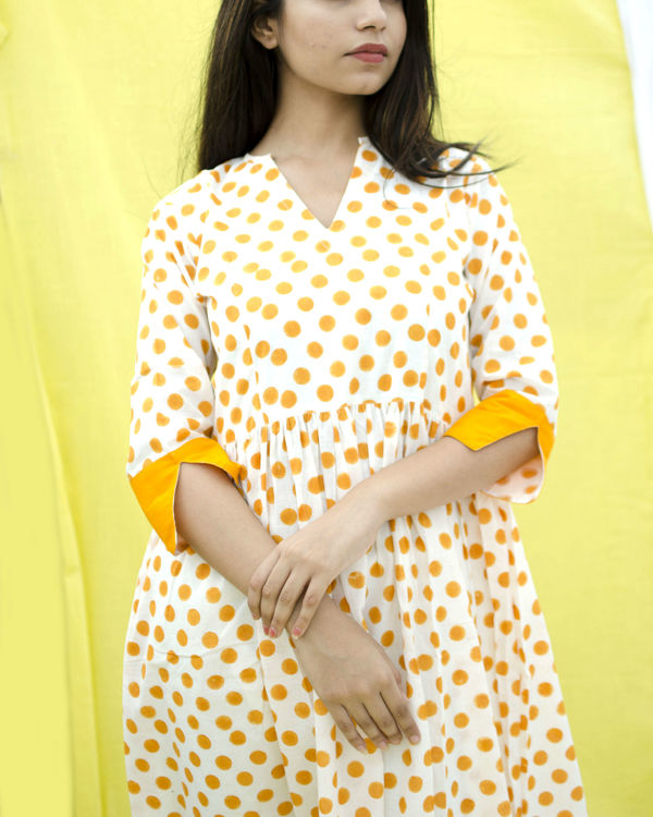 Orange polka dress 1