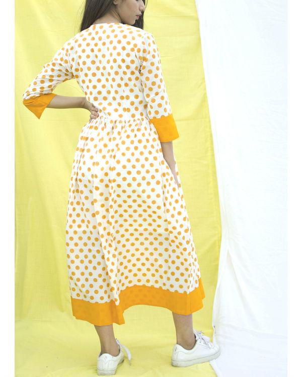 Orange polka dress 2
