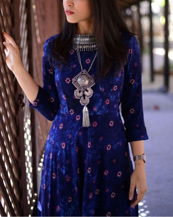 Blue floral maxi dress 1