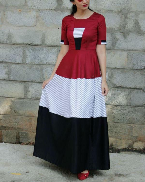 Three patch maxi dress 2