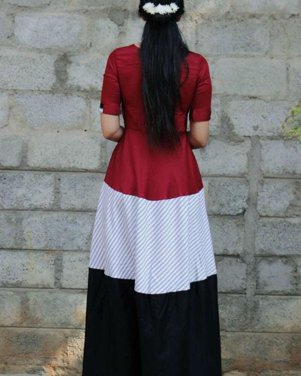 Three patch maxi dress 3