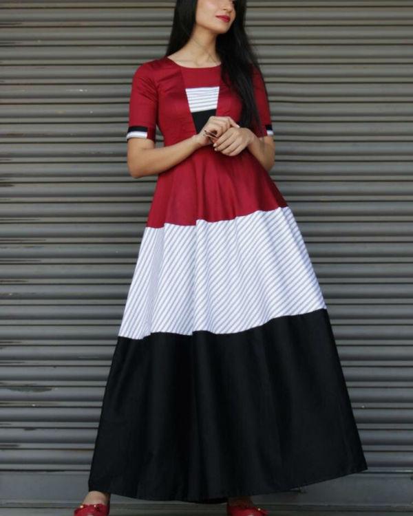 Three patch maxi dress 1