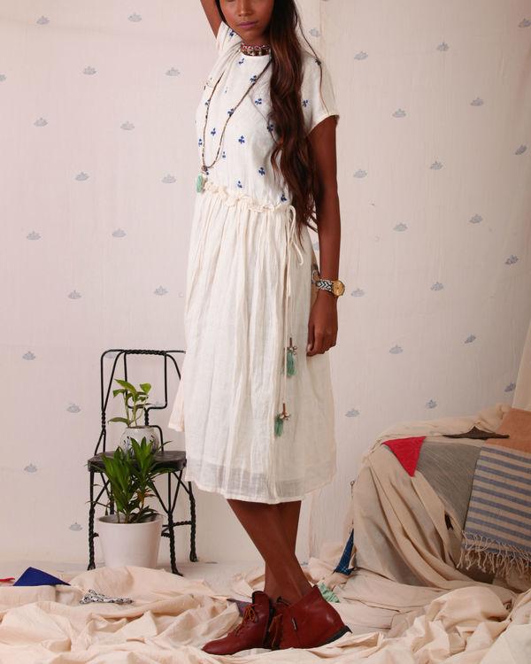 Block printed torso dress 1