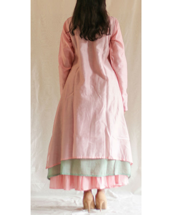 Pink green turtle tunic with skirt 1