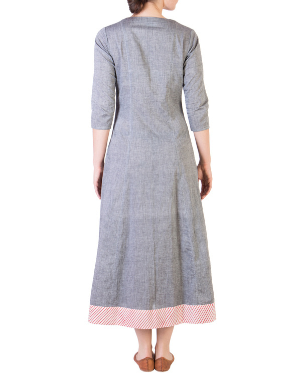 Grey mangalgiri pannelled a-line tunic 2