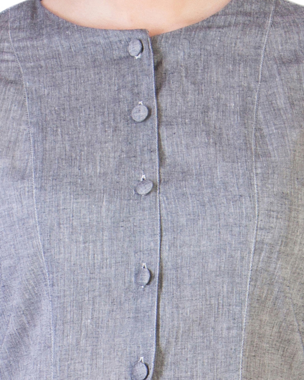 Grey mangalgiri pannelled a-line tunic 3