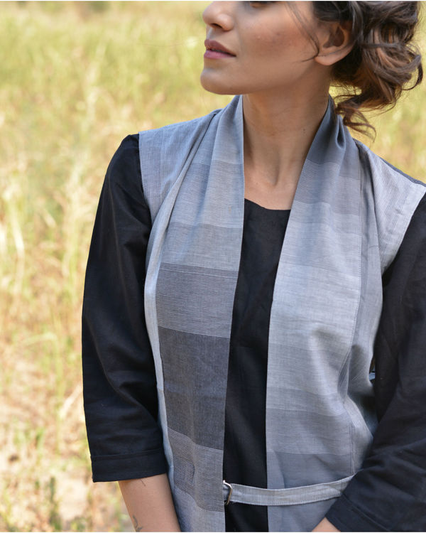 Grey shaded Jacket dress 1