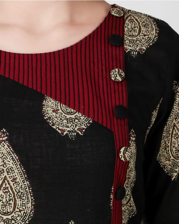 Black kalamkari print dress 2