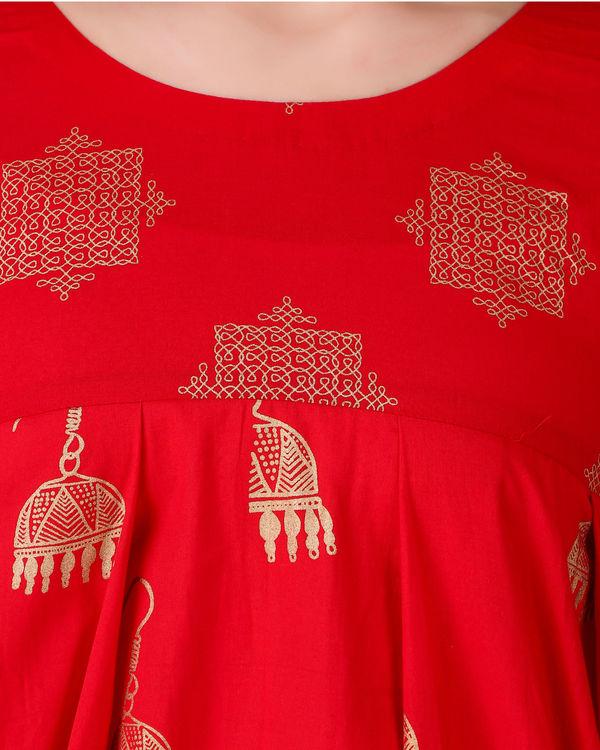 Red dual print tunic 3