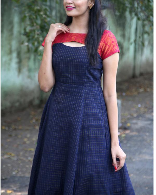 Oxford blue anarkali dress 1